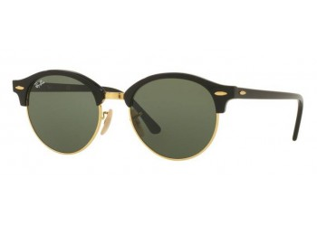 Lunettes de soleil Ray-Ban Clubround RB4246 901 Black/Gold | Revendeur Agréé Ray-Ban | product_reduce_price