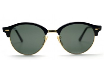 Lunettes de soleil Ray-Ban Clubround RB4246 901 Black/Gold
