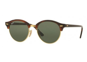 Lunettes de soleil Ray-Ban Clubround RB4246 990 Gold/Havana | Revendeur Agréé Ray-Ban | product_reduce_price