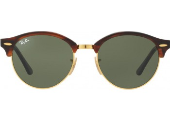Lunettes de soleil Ray-Ban Clubround RB4246 990 Gold/Havana
