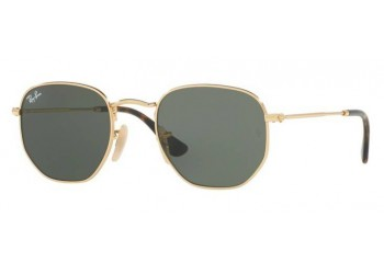Lunettes de soleil Ray-Ban Hexagonal Flat Lenses RB3548N 001 Or | Revendeur Agréé Ray-Ban | product_reduce_price