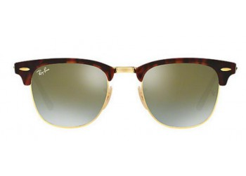 Lunettes de soleil Ray-Ban Clubmaster RB3016 990/9J Shiny Red/Havana