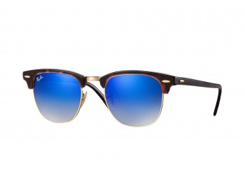 Lunettes de soleil Ray-Ban Clubmaster RB3016 990/7Q Shiny Red/Havana | Revendeur Agréé Ray-Ban | product_reduce_price