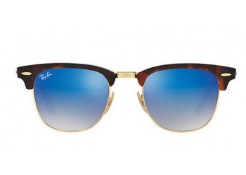 Lunettes de soleil Ray-Ban Clubmaster RB3016 990/7Q Shiny Red/Havana