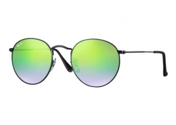 Lunettes de soleil Ray-Ban Round Metal RB3447 002/4J Vert flash | Revendeur Agréé Ray-Ban | product_reduce_price