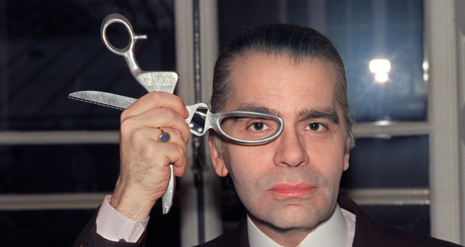 Karl Lagerfeld without his sunglasses
